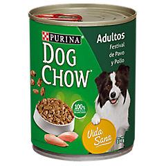 Alimento húmedo para perro adulto 374 gr pavo y pollo