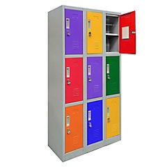 Office Lock 3 Cuerpos Triple, con porta candado, 83x50x166cm, colores