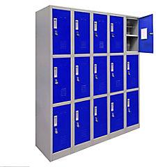 Locker de oficina acero 15 puertas con portacandado