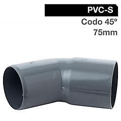 Codo PVC para cementar 75 mm
