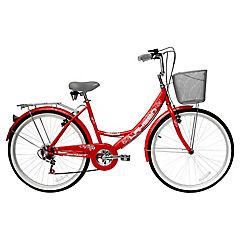 Bicicleta Mtb 26 Mujer Atlanta 6 Velocidades Red