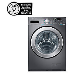 Lavadora secadora carga frontal 15/8 kg negro