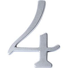 Número para casa #4 Cromado satín
