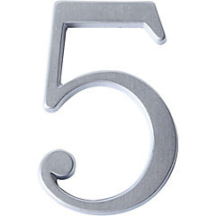 Número para casa #5 Cromado satín