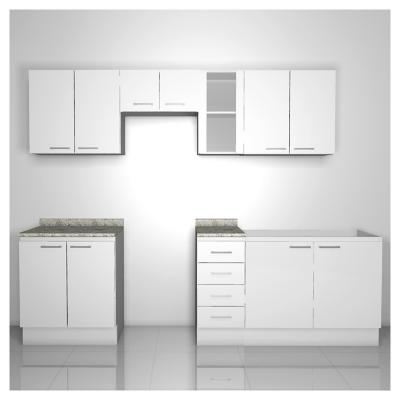 Combo mueble de cocina 11 puertas 4 cajones Blanco - Sodimac.com