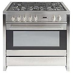 Cocina a gas 5 quemadores 105 litros silver