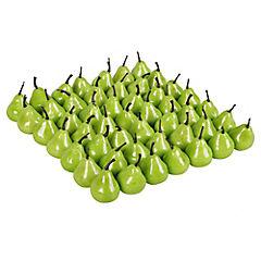 Mini peras decorativas 50 unidades