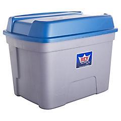 Caja organizadora 100 litros 63,7x45x48 cm gris