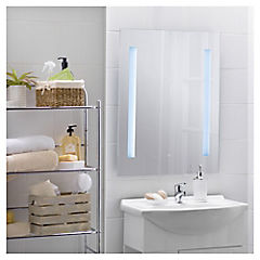 Espejo para baño con luz LED 60x80x0,5 cm Gris