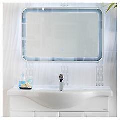 Espejo para baño con luz LED 90x60x0,5 cm Gris