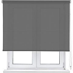 Cortina enrollable poliéster 105x250 cm gris