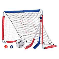 Set arco de fútbol y hockey 28x71x7 cm