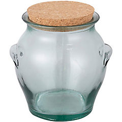 Canister para miel con tapa vidrio transparente