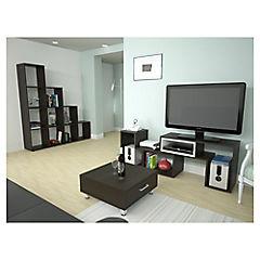 Combo biblioteca + rack de TV + mesa de centro