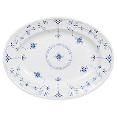 Plato ovalado 33 cm Azul