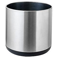 Macetero de acero inoxidable 40x40 cm Plateado