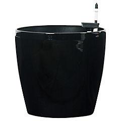 Macetero autoriego de polipropileno 45x42 cm Negro