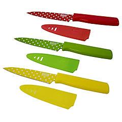 Set de cuchillos 10 cm 3 unidades con fundas