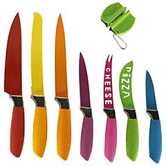 Kit cuchillos + afilador 8 piezas