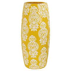 Jarrón oval amarillo - blanco 26,5 cm