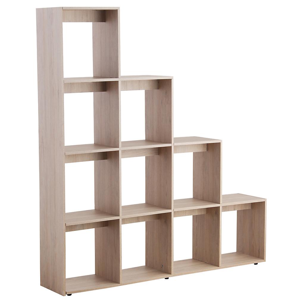 Biblioteca 10 repisas 170x156x30 cm rovere - Sodimac.com fe6644024fea