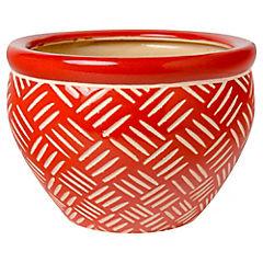 Macetero de cerámica 16x23x23 cm Rojo