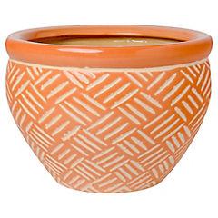 Macetero de cerámica 16x23x23 cm Naranjo