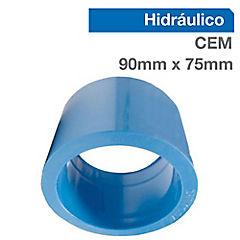 Buje reducción corta PVC para cementar 90x75 mm