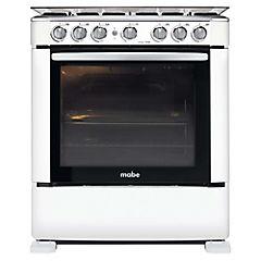 Cocina a gas 6 quemadores 110 litros blanco
