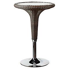 Mesa de bar ratán 100x66 cm