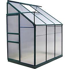 Invernadero 125x192x213 cm de policarbonato Gris