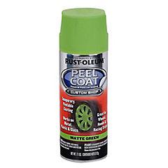 Pintura temporal en spray para auto mate 340 gr Verde