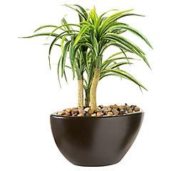 Yucca artificial 38 cm con macetero