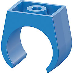 Abrazadera fija PVC a presión 20 mm