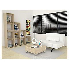 Combo Biblioteca + Mesa de centro oak