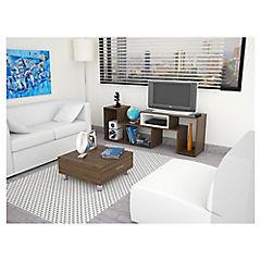 Combo rack de TV + mesa de centro amaretto
