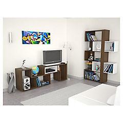 Combo rack de TV + biblioteca