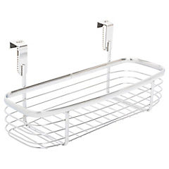 Canasto para baño 12,7x28 cm metal plateado