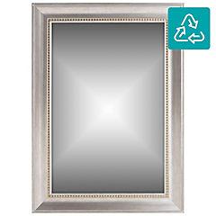 Espejo rectangular 108x78 cm plateado