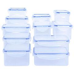 Set de contenedores de alimentos plástico 22 unidades