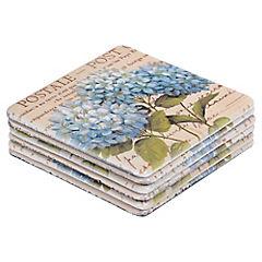 Set de Posavasos de Plástico 10x10 cm 7 Unidades