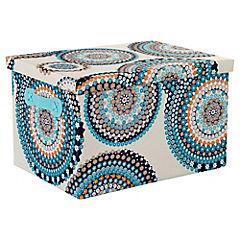 Caja con tapa 36x26x22 cm turquesa