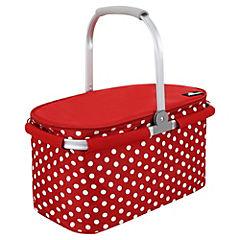 Canasto para picnic 10 litros Puntos rojos