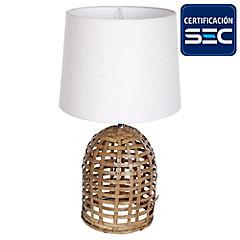 Lámpara de Mesa Bambú 60W E27