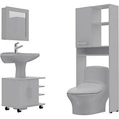 Combo Botiquín 47 + mueble bajo lavamanos 55 + Estante 27