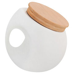 Canister con tapa 200 ml porcelana blanco