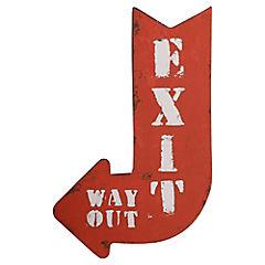 Lámina Metálica Exit 25 x 40 cm