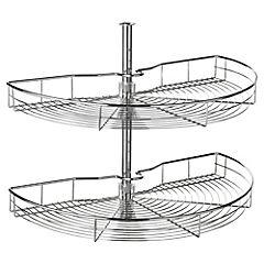 Canastillo rotonda 74x41,5 cm acero 180 gr cromado