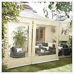Cierre cortina de PVC terraza 2 x 2.5 m