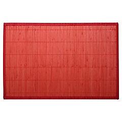 Individual 30x45 cm bambú rojo
